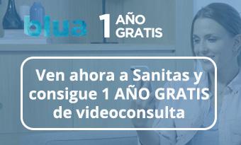 Promoción Sanitas Blua Gratis por 1 año