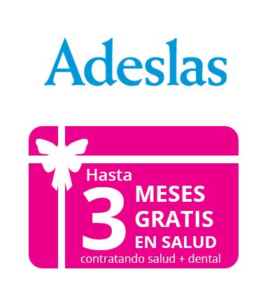 Hasta 3 meses gratis en salud con Adeslas